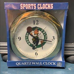 New Sealed Sports Clock by Hunter- Boston Celtics